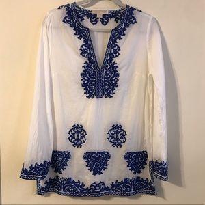 MICHAEL Michael Kors Embroidered Tunic 100% cotton